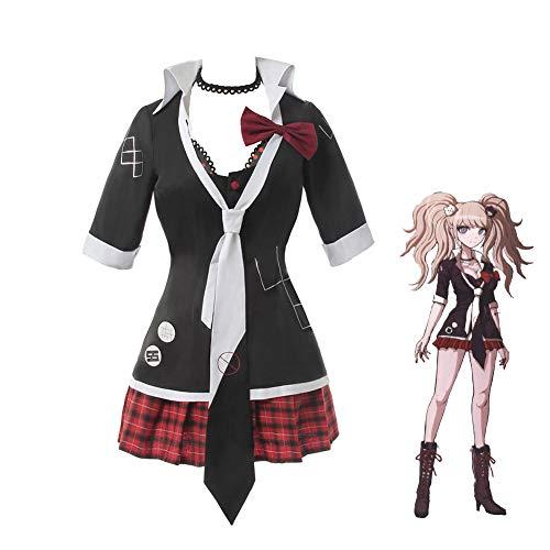 Nuoqi Junko Enoshima Cosplay Outfit Danganronpa Junko Cosplay Costume Anime Uniform Dress Full Set Halloween M