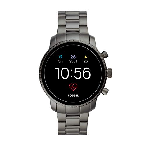 Fossil Men's Gen 4 Explorist HR Heart Rate Stainless Steel Touchscreen Smartwatch, Color: Gunmetal (Model: BQD1001)