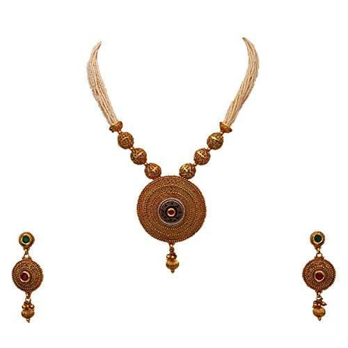 JewelryGift Público profesional. Personas consumidores chapado en oro-cobre Cuentas de perla, ruby-CZ