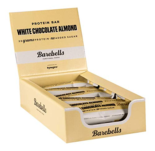 Barebells Protein Bar, 12 x 55g Bars, White Chocolate Almond