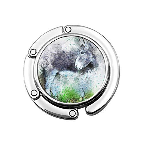 Asino Animale Arte Astratto Acquerello Borsa di tela vintage Appendiabiti Borsa Appendiabiti Tavolo Design unico Design Pieghevole Portaoggetti Borsa da donna Appendiabiti