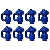 G-förmige Trampolin-Polkappen, Trampolin-Endkappen, oberes Netzhakengehäuse für Glasfaser- oder Metallringe, verdickte obere Netzbefestigungs-Trampolin-Sicherheitsstangenkappen (Blau/8 Stück)