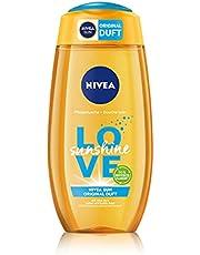 NIVEA Love Sunshine verzorgende douchegel (250 ml), zomerse douchegel met aloë vera voor merkbaar zachte huid, douche met de unieke Nivea Sun zonnecrème geur