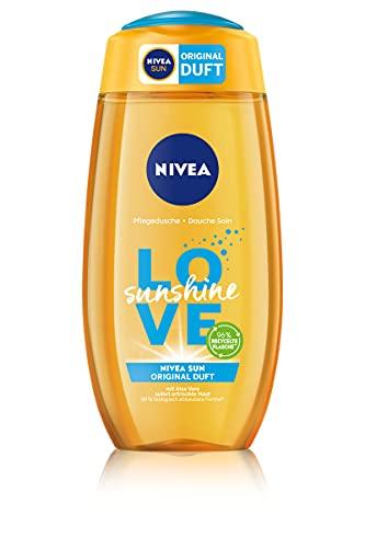 NIVEA Love Sunshine Pflegedusche (250 ml), sommerliches Duschgel mit Aloe Vera für spürbar weiche Haut, Dusche mit dem einzigartigem NIVEA Sun Sonnencreme Duft
