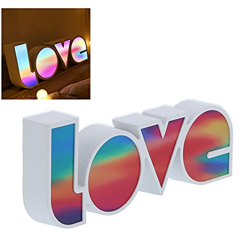 FEYV Love Light, USB LED Light Diseño único de Alta transmisión de luz Colorida para el día de San Valentín para Bodas