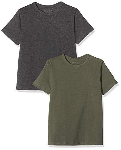 MINYMO Jungen 2er Pack T-Shirt, Mehrfarbig (Beetle/Grau 978), (Herstellergröße:146)