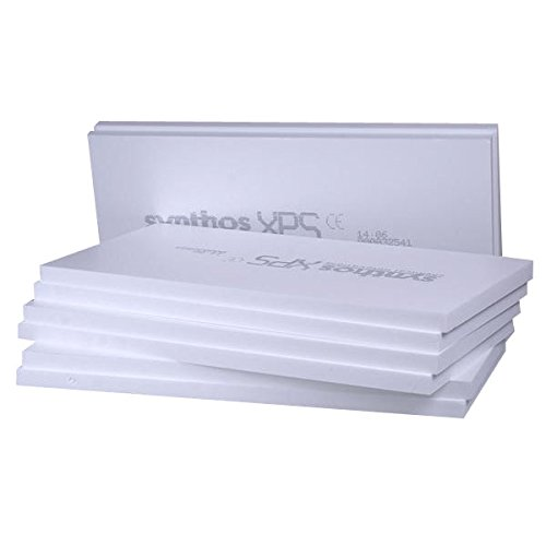 7,5m² XPS Sockeldämmplatte in 50mm Synthos Prime S (10 Platten) WLG 032 Wärmedämmung 300kPa Druckfest