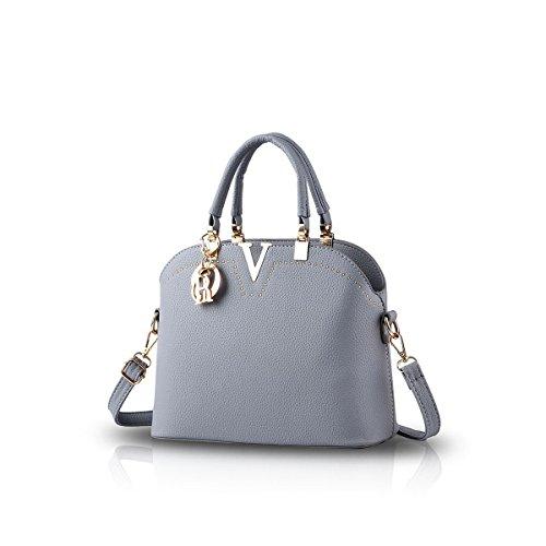 Nicole&Doris 2016 nuova borsa tracolla portatile casuale moda Borse del messaggero per le donne(Gray)