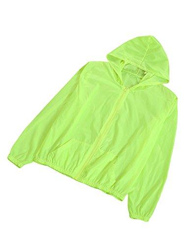 Letuwj Damen Sommer Anti-UV Sonnenschutz Jacke Schnelltrocknend Ultraleicht Ultra dünn Outwear Fluoreszierend Grün Einheitsgröße