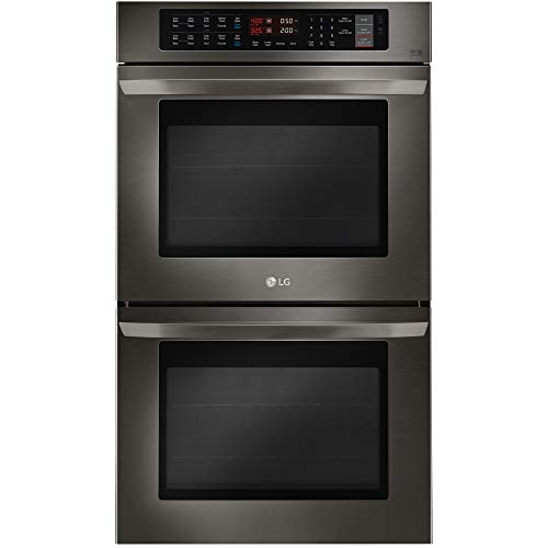 """LG LWD3063BD 4.7 cu. ft. 30"""" Electric Double Wall Oven w/True Convection Black Stainless Steel- Refurbished"""