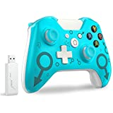 Wireless Controller for Xbox One, Fit for Xbox Series X/S/Xbox One S/One X/PS3 /One Elite/Windows 7/8/10,Usergaing Wireless PC Gamepad with 2.4GHZ Wireless Adapter(Blue)