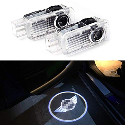 Spongent 2 pieces Car Door Light Courtesy Shadow 3D Lamps Logo Projector Compatible with Mini