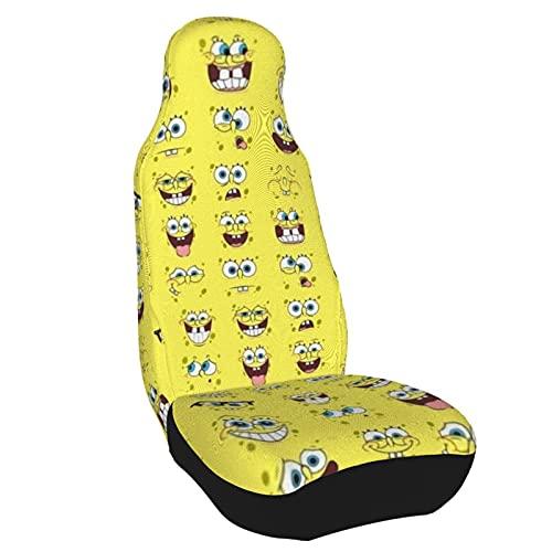 Spongebob Squarepants Car Seat Cover, 3D Car Seat Cushion Protective Cover,Quick-Drying Elastic Suit for Auto Truck Van SUV..