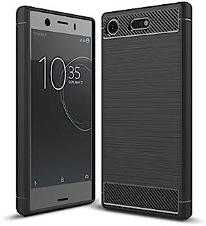 Sony Xperia XZ1 Compact Case, Cruzerlite Carbon Fiber Pattern Shock Absorption Slim case for Sony Xperia XZ1 Compact (2017...