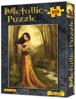 Metallic-Puzzle Gold: 555 Teile