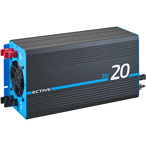 ECTIVE 2000W 24V zu 230V Reiner Sinus-Wechselrichter SSI 20 mit Batterie-Ladegerät, MPPT-Solarladeregler, NVS und BVS