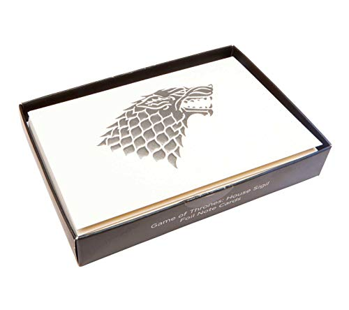 Game of Thrones: House Sigil Foil Note Cards (Game of Thrones Notecards)