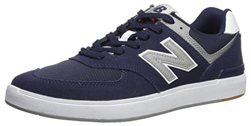 Price comparison product image New Balance Men's 574 Skate Sneaker,  Black / White,  8.5 D US