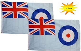 3x5 3'x5' Wholesale Set (2 Pack) Royal Air Force Ensign White RAF Flag Banner BEST Garden Outdor Decor polyester material FLAG PREMIUM Vivid Color and UV Fade Resistant