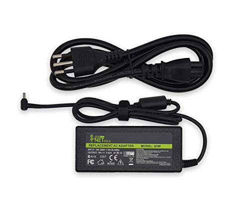 New Net – Fuente de alimentación cargador compatible con PC Notebook Asus P2520 P2520L P2520LA P2520LJ [ 19 V 3,42 A 65 W – Conector 4,5 x 3,0 mm ]