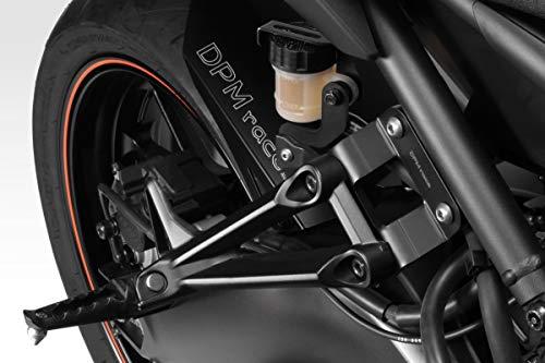 MT 09 SP 2018/20 - Kit Supporti Pedane Passeggero (R-0733 SP) - Riposizionamento Poggiapiedi Pedalini - Minuteria Inclusa - Accessori De Pretto Moto (DPM Race) - 100% Made in Italy