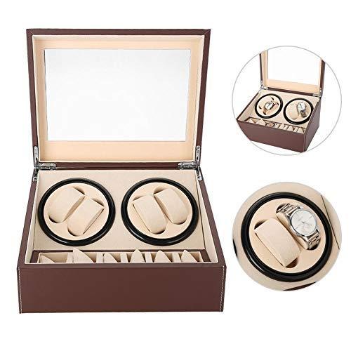 Salmue Caja Giratoria para Relojes, Nrollador de Reloj de Motor Eléctrico Whisper-Quiet...