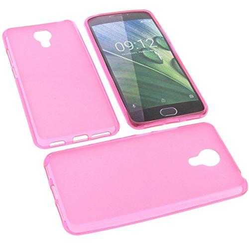 foto-kontor Tasche für Acer Liquid Z6 Plus Gummi TPU Schutz Handytasche pink