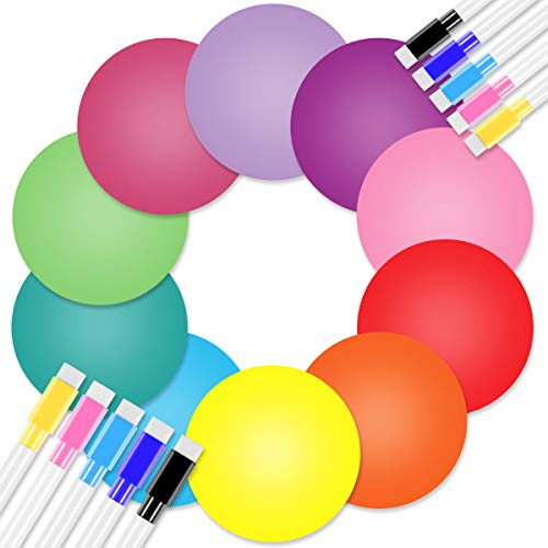 20 Pieces Colorful Dry Erase Circles, Removable Vinyl Dot Stickers for School Classroom Teachers Students Table & Desk, Dry Erase Markers with Erasers Fun Toys Birthday Xmas Gifts for Boys and Girls