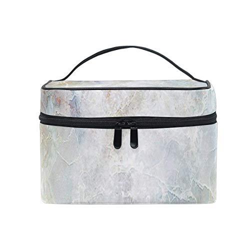 Sac de maquillage Véritable sac cosmétique en marbre naturel Grand sac de toilette portable pour les femmes/filles Voyage