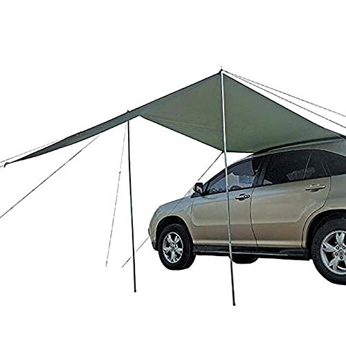APXZC Car Tent, Side Tent, Multi-Section Socket Reinforced Electroplated Metal Rod More Stable Support, for Building on The Grass Beach Soil/More Than Two People