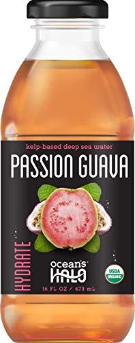 Oceans Halo Organic Passion Guava Deep-Sea Water, 16 oz. per bottle, 4 bottles
