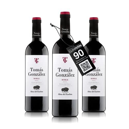 Bodegas Altos del Enebro - D.O. Ribera del Duero - Vino Tomas Gonzalez (crianza 5 meses en barrica) - Caja de 3 botellas de 750 ml