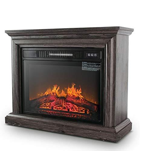 ZMJJ Elektrische open haard met verwarming, staande haard met afstandsbediening, dimbaar, timerfunctie, 1400 W, vlammeneffect, kachel met echte warmte