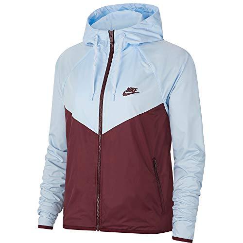 Nike Women's Sportswear Windrunner Jacket (Celestine Blue/Nt Maroon, Large)