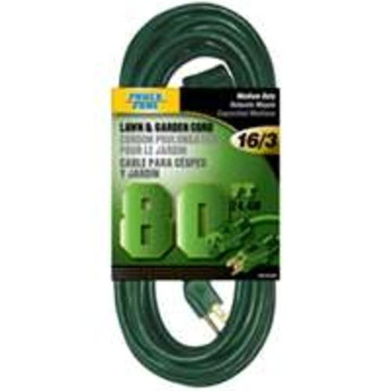 Lawn and Garden Cord 80ft 16/3 SJTW 10 amp 125 volt 3 conductor