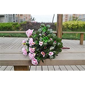 Artificial and Dried Flower one Azalea Bush Fake Azaleaes Fowers Gardenias 7 Stems for Wedding Centerpiece Decor Flowers