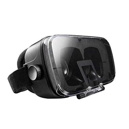 エレコム 3D VR ゴーグル ヘッドマウント用 目幅調節 ピント調節 AR対応 ブラック P-VRG03BK