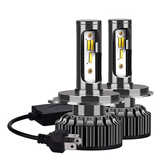 SONGYU Bombillas de Faros Delanteros de Coche 2PC H4 H7 Led 14000Lm H1 H3 H11 H13 880 9005 9006 9007 3 Cambio de Color 3000K 4500K 6500K Lámparas antiniebla automáticas, 9007 hi/lo