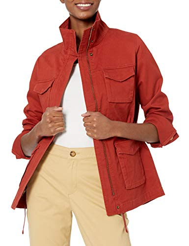 Amazon Essentials Utility Jacket Chaqueta, Rojo Oscuro, XL