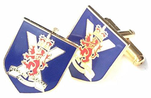 N111 Boutons de manchette personnalisés en émail Motif régiment royal d'Écosse