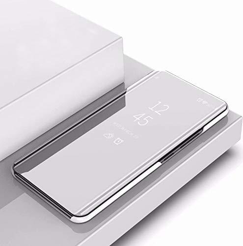 KIOKIOIPO-N Mode Überzug-Spiegel Links und rechts Flip-Cover mit Halterung for iPhone XI MAX 2019 (Colour : Silber)