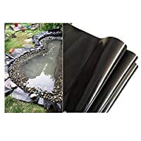 透湿防水シートHDPE池ライナー黒池ライナー池ライナー防水ガーデンメンブレンプールスキンは、魚や植物に適したサイズで、耐候性があります0.35mm厚 (1×4m)