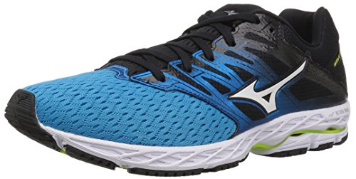 Mizuno Men's Wave Shadow 2 Running Shoe, Peacock Blue/Teaberry, 8.5 D US