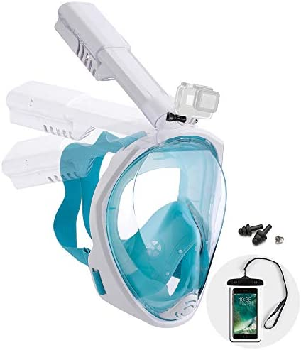 Dekugaa Full Face Snorkel Mask Adult Snorkeling Mask with Detachable Camera Mount 180 Degree product image