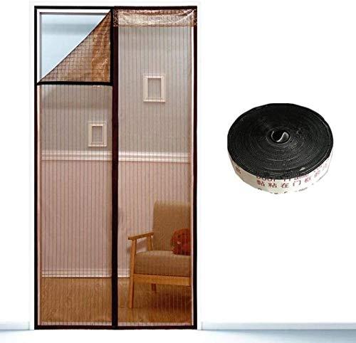Tiendas de campaña magnéticos, cortinas pesadas de punto con imanes potentes y cinta mágica de la trama completa no tienen huecos, no deje que los insectos dentro y fuera de la circulació...