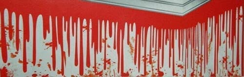 Uncommon Dripping Challenge the lowest price of Award Japan ☆ Blood Scene Setter Wall Party Border Halloween