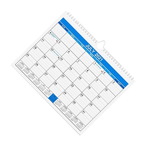 TOYMYTOY Calendario de Pared 2022 Calendario de Escritorio de 12 Meses Calendario Anual de Pared Planificador Diario Calendario para La Oficina de La Escuela Organización de La