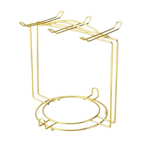 Cabilock Taza de Acero Inoxidable Soporte para Árbol Taza Organizador Soporte para 4 Tazas 6 Platos Dorado