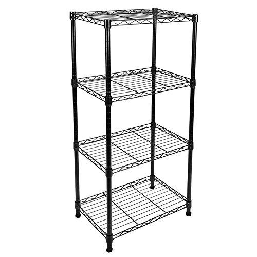 YAHEETECH 5-Tier Metal Garage Shelves Storage Rack Shelf Unit Heavy Duty Adjustable Boltless Rivet Wire Rack, 73.2