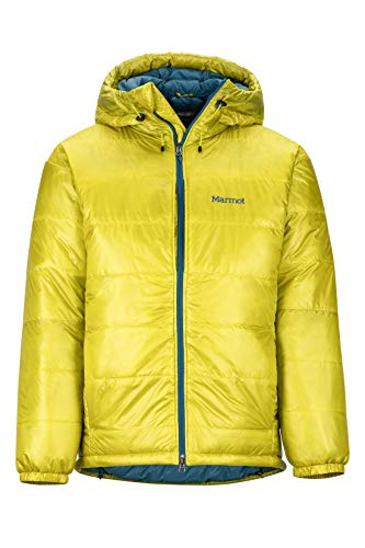 Marmot Herren West Rib Parka Leichte Daunenjacke, 800 Fill-Power, Warme Outdoorjacke, Wasserabweisend, Winddicht, Citronelle, XL